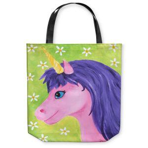 Unique Shoulder Bag Tote Bags | nJoy Art - Pink Unicorn