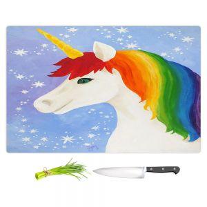 Artistic Kitchen Bar Cutting Boards   nJoy Art - Rainbow Unicorn l