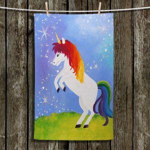 Unique Hanging Tea Towels | nJoy Art - Rainbow Unicorn ll | Animal Make Believe Child Like
