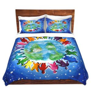 Artistic Duvet Covers and Shams Bedding | nJoy Art - The World Is My Playground