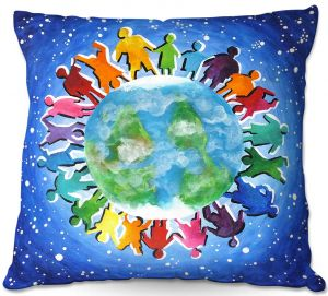 Decorative Outdoor Patio Pillow Cushion | nJoy Art - The World Is My Playground