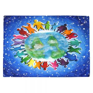 Countertop Place Mats | nJoy Art - The World Is My Playground