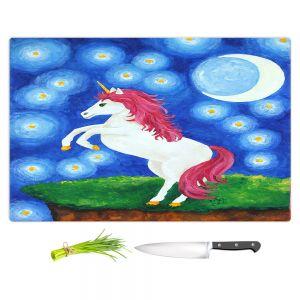 Artistic Kitchen Bar Cutting Boards | nJoy Art - Unicorn Starry Night