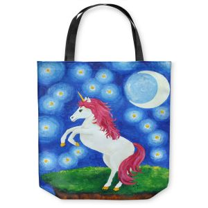 Unique Shoulder Bag Tote Bags | nJoy Art - Unicorn Starry Night