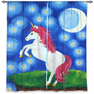 Decorative Window Treatments | nJoy Art - Unicorn Starry Night