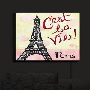 Nightlight Sconce Canvas Light | nJoy Art - Cest La Vie | Paris Eifel Tower Places