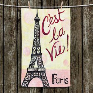 Unique Hanging Tea Towels | nJoy Art - Cest La Vie | Paris Eifel Tower Places