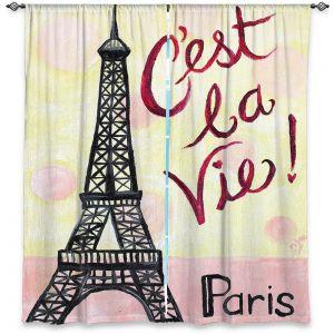 Decorative Window Treatments | nJoy Art - Cest La Vie