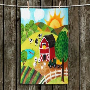 Unique Bathroom Towels | nJoy Art - Daybreak on the Farm