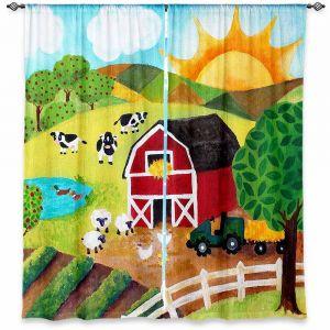 Decorative Window Treatments | nJoy Art Daybreak on the Farm