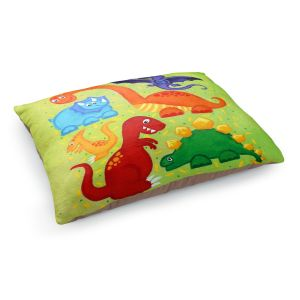 Decorative Dog Pet Beds | nJoyArt's Dinosaur Jumble