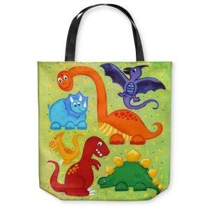 Unique Shoulder Bag Tote Bags   nJoy Art Dinosaur Jumble