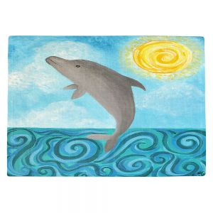 Decorative Kitchen Placemats 18x13 from DiaNoche Designs by nJoy Art - Dolphin
