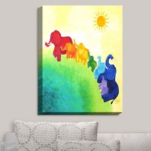 Decorative Canvas Wall Art | nJoy Art - Elephant Rainbow