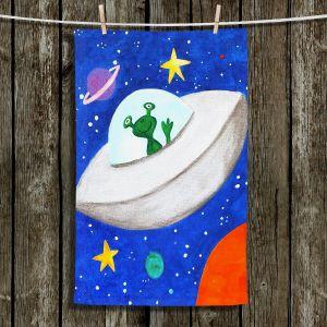 Unique Hanging Tea Towels | nJoy Art - Flying Saucer | Space Marshian