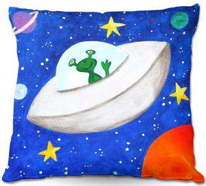 Throw Pillows Decorative Artistic   nJoyArt's Flying Saucer