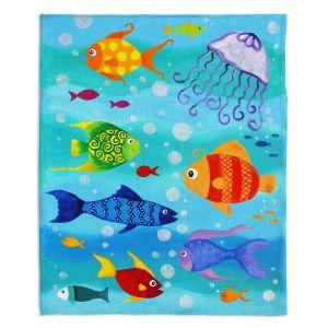 Artistic Sherpa Pile Blankets | nJoy Art Happy Fish I