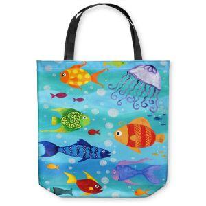 Unique Shoulder Bag Tote Bags   nJoy Art Happy Fish I