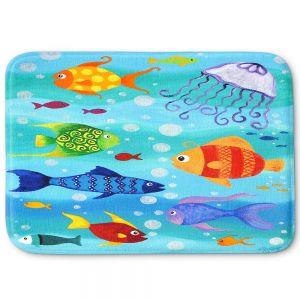 Decorative Bathroom Mats | nJoy Art - Happy Fish I