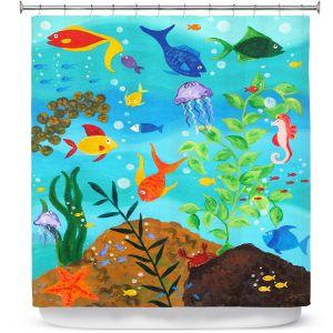 Premium Shower Curtains | nJoy Art Happy Fish III