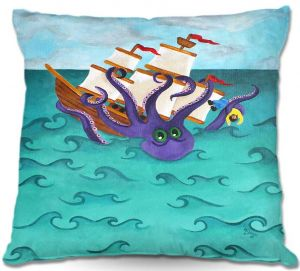 Throw Pillows Decorative Artistic | nJoy Art Kraken