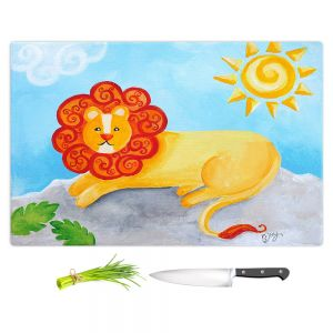 Artistic Kitchen Bar Cutting Boards | nJoy Art - Lion