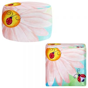 Round and Square Ottoman Foot Stools | nJoy Art - Love Bugs