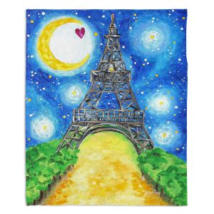 Artistic Sherpa Pile Blankets | nJoy Art - Paris At Night