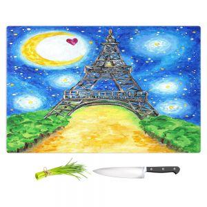 Artistic Kitchen Bar Cutting Boards | nJoy Art - Paris At Night