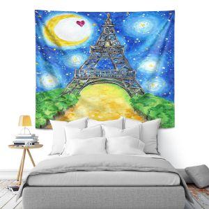 Artistic Wall Tapestry | nJoy Art - Paris At Night