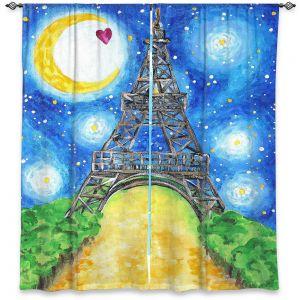 Decorative Window Treatments | nJoy Art - Paris At Night