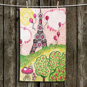Unique Bathroom Towels | nJoy Art - Paris In Pink