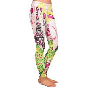 Casual Comfortable Leggings | nJoy Art - Paris In Pink