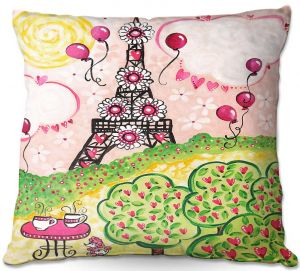 Throw Pillows Decorative Artistic | nJoy Art - Paris In Pink