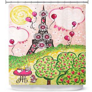 Premium Shower Curtains | nJoy Art - Paris In Pink