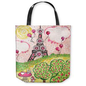 Unique Shoulder Bag Tote Bags   nJoy Art - Paris In Pink