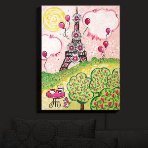 Nightlight Sconce Canvas Light   nJoy Art - Paris In Pink   Femenine Places