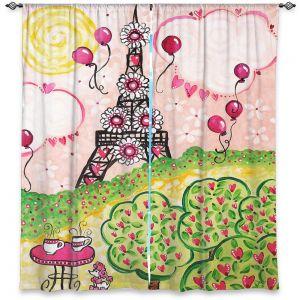 Decorative Window Treatments | nJoy Art - Paris In Pink