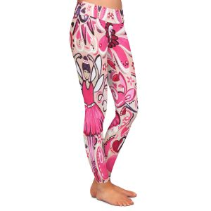 Casual Comfortable Leggings | nJoy Art - Pink Ballet