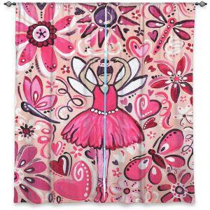 Decorative Window Treatments | nJoy Art - Pink Ballet