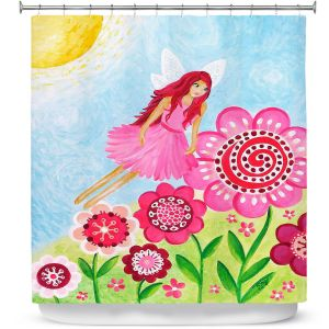 Premium Shower Curtains | nJoy Art - Pink Flower Fairy