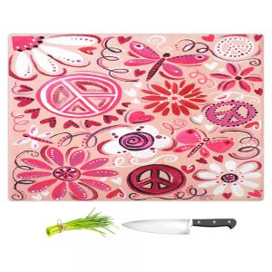 Artistic Kitchen Bar Cutting Boards | nJoy Art - Pink Peace