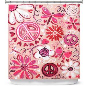 Premium Shower Curtains   nJoy Art - Pink Peace