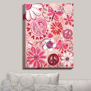 Decorative Canvas Wall Art | nJoy Art - Pink Peace | Whimsical Child Like Passions Dance