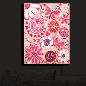 Nightlight Sconce Canvas Light | nJoy Art - Pink Peace | Whimsical Child Like Passions Dance