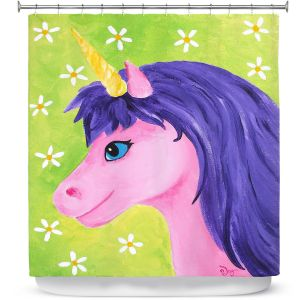 Premium Shower Curtains | nJoy Art - Pink Unicorn