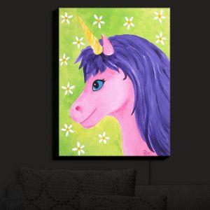 Nightlight Sconce Canvas Light | nJoy Art - Pink Unicorn | Animal Make Believe Child Like