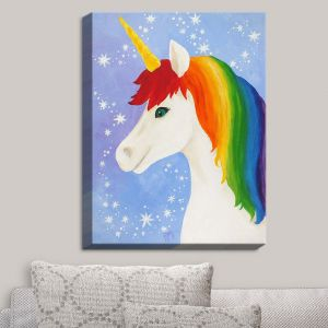 Decorative Canvas Wall Art | nJoy Art - Rainbow Unicorn I | Animal Make Believe Child Like