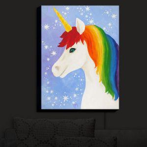 Nightlight Sconce Canvas Light | nJoy Art - Rainbow Unicorn I | Animal Make Believe Child Like