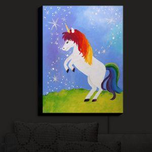 Nightlight Sconce Canvas Light   nJoy Art - Rainbow Unicorn II   Animal Make Believe Child Like